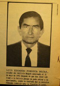 Luis Eduardo Fonseca Rojas, el humilde celador asesinado