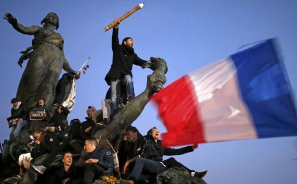 Cientos de miles de franceses marcharon para repudiar el terrorismo