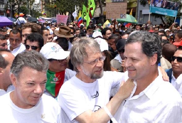 Santos, Mockus y Sergio Jaramillo