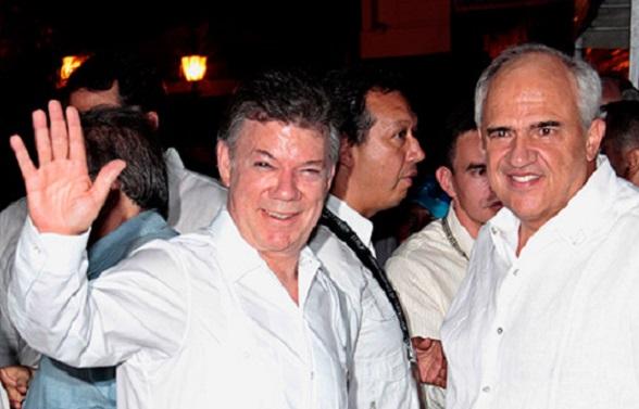 Juan Manuel Santos y Ernesto Samper