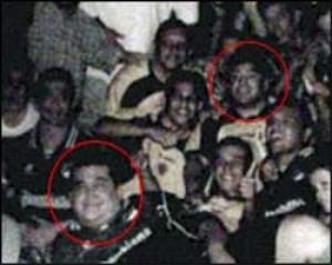 """Diego Maradona y """"Don Diego"""" en una fiesta en la casa de la madre del capo"""