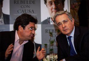 Francisco Santos y Álvaro Uribe