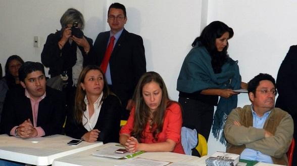 Juan Gabriel Castaño, Liliana Alfonso, Carolina Villegas y Francisco Santos