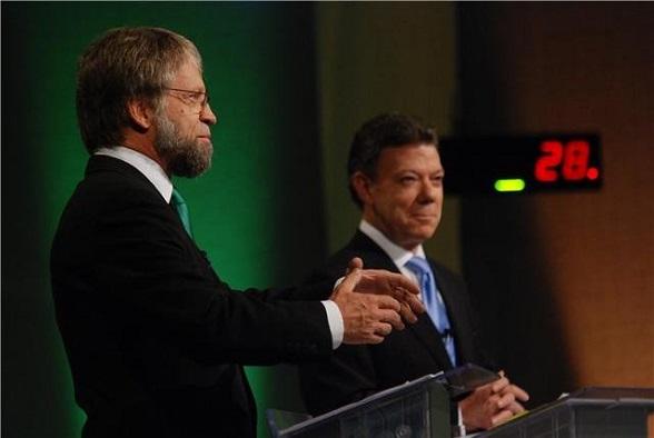 Antanas Mockus y Juan Manuel Santos en la campaña presidencial de hace 4 años