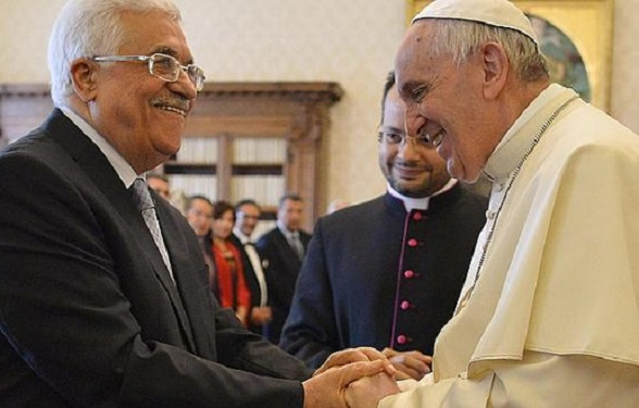 Mahmoud Abbas y el Papa Francisco