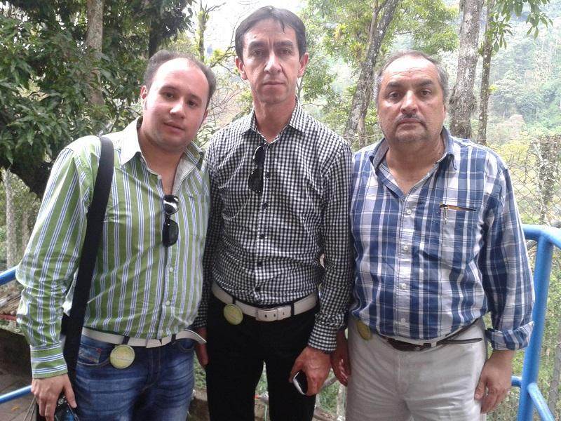 Juan Carlos Montaña y Orlando Santiesteban, concejal del Polo Democrático