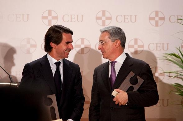 José María Aznar y Álvaro Uribe