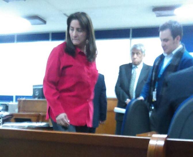 Ángela María Buitrago y William Monroy, en la audiencia de imputación