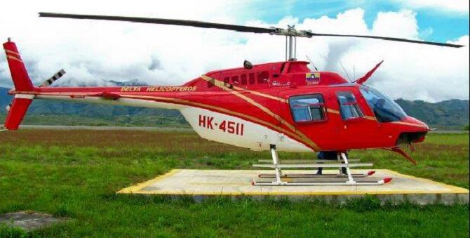 Este es el helicóptero secuestrado hoy por las FARC