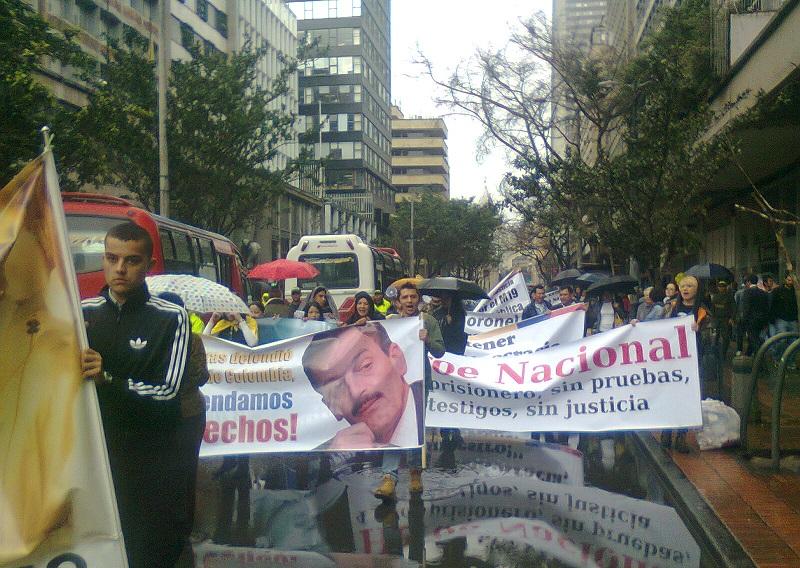 Marcha a favor de Plazas Vega (Foto Periodismo Sin Fronteras)