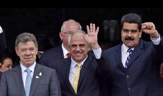 Santos, Samper y Maduro