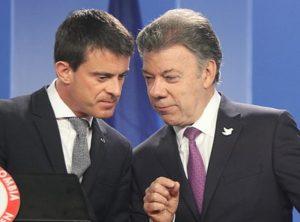 Juan Manuel Santos y Manuel Valls