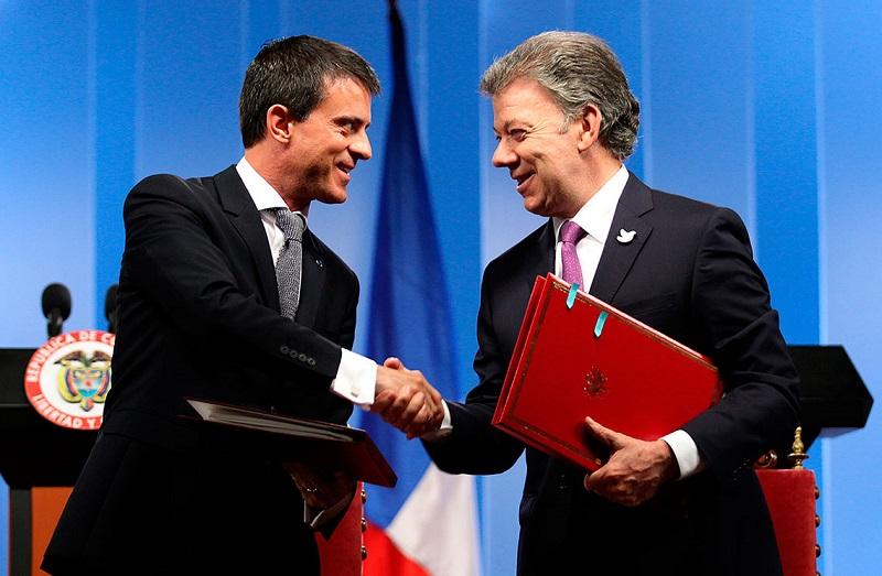 Juan Manuel Santos y Manuel Valls2