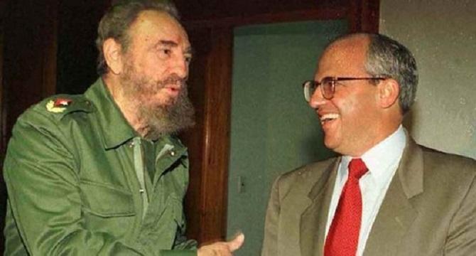Fidel Castro y Ernesto Samper