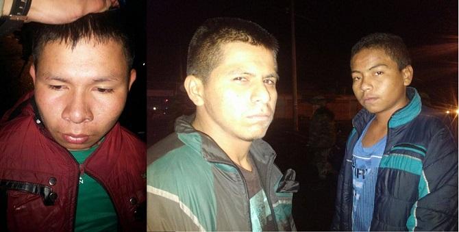 Los terroristas de las FARC capturados