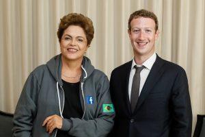 Mark Zuckerberg y Dilma Rousseff