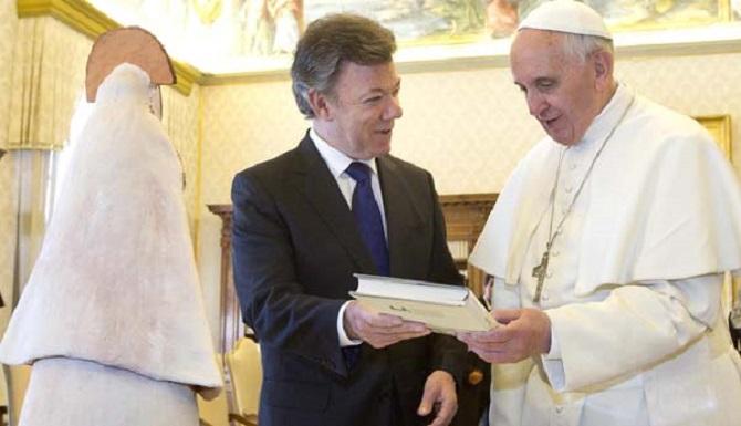 Juan Manuel Santos y el Papa Francisco