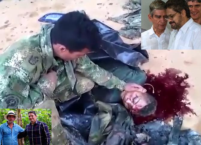 Un militar llora la muerte de uno de sus hombres, mientras generales de la República se abrazan con los asesinos