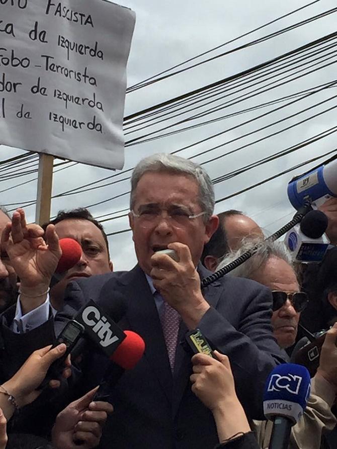 Álvaro Uribe Vélez, de lejos el mejor presidente que ha tenido este país. (Foto Jaime Prada)