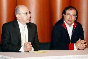 Gustavo Petro y el fiscal montealegre