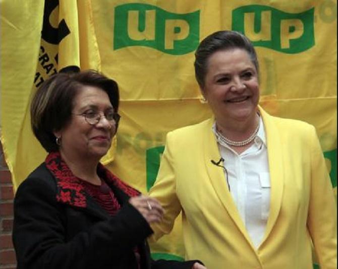 Aida Avella y Clara López