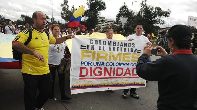 Bogotá. Los colombianos en el exterior, presentes (Foto Zoilo Nieto y Liliana Melo)