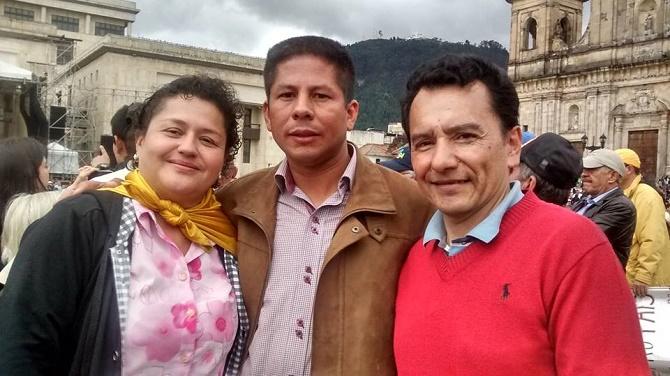 Bogotá, Pinchao en la marcha
