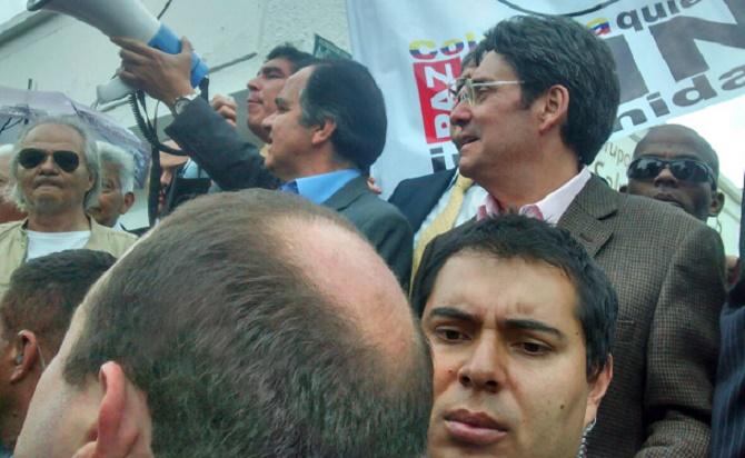 El ex Vicepresidente Francisco Santos, hoy candidato a la Alcaldía de Bogotá.
