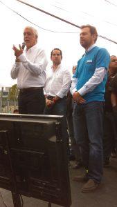 Los Galán, apoyando la candidatura de Peñalosa a la Alcadía. Seguramente destrás también está Germán Vargas Lleras