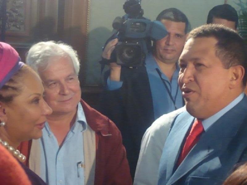 Lisandro Duque, Piedad Córdoba y Hugo Chávez