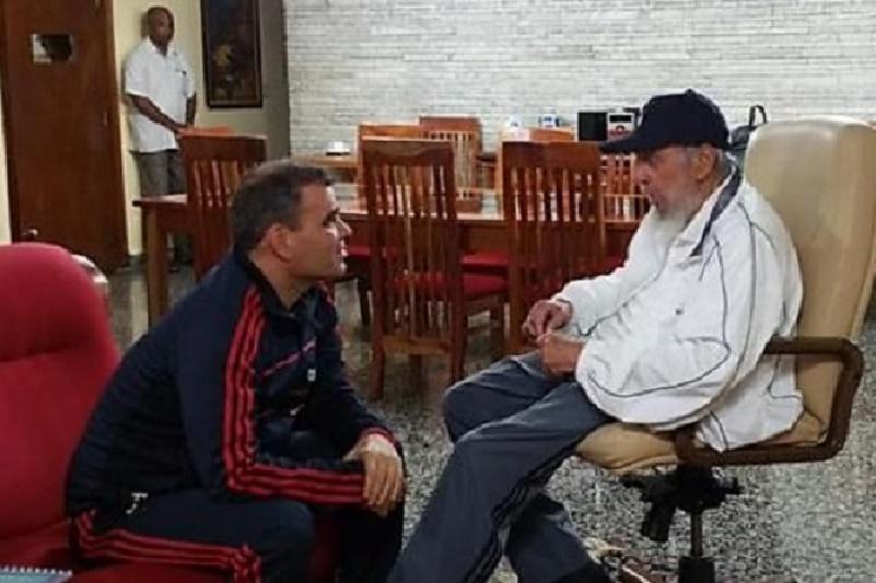 Padrino López y Fidel Castro