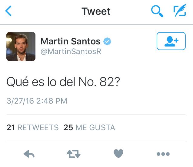 Malévolo trino de Martín Santos, el hijo de Juan Manuel Santos
