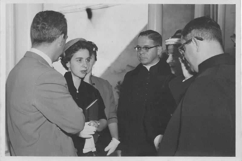 Fanny González junto a su madre, Elisa Franco, y a sus hermanos Ananías y Reinaldo