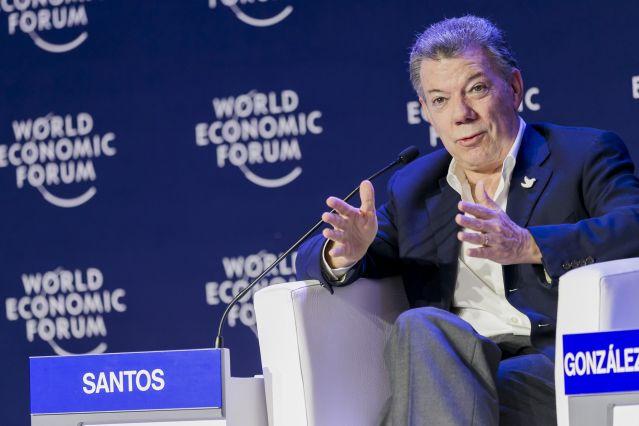 Santos en el Foro Económico Mundial