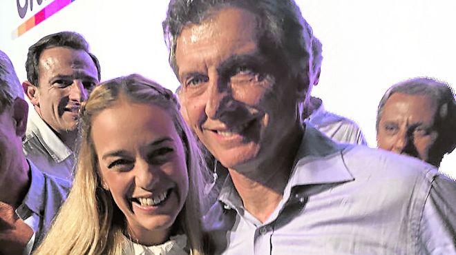 Macri y Liliana Tintori