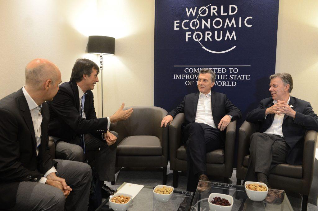 Santos y Macri en el Foro Económico Mundial