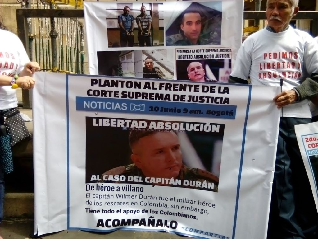 Captain Duran's case was not tried in a military tribunal