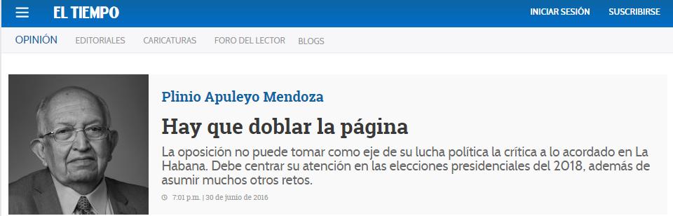 Artículo de Plinio Apuleyo Mendoza