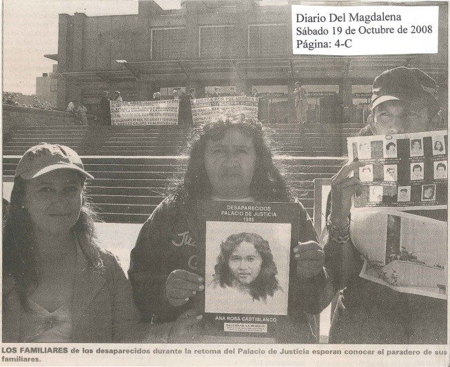Imagen Diario del Magdalena, octubre 19 de 2008, página 4C. Siete años después de haber recibido su cadáver