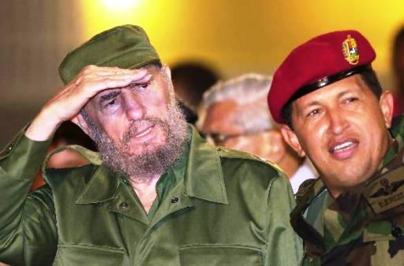 Castro y su pupilo Chávez