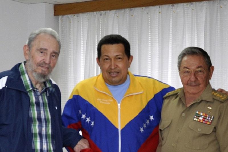 Raul Castro, Fidel Castro, Hugo Chávez