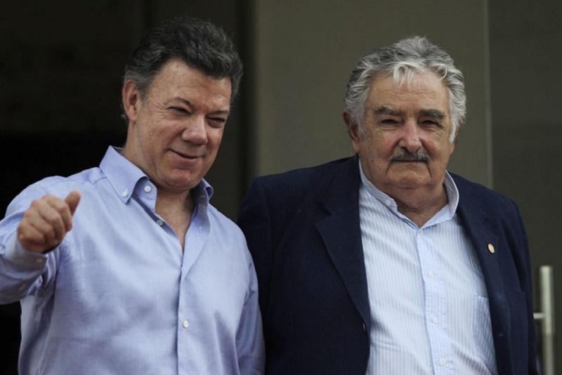 Pepe Mujica y Juan Manuel Santos