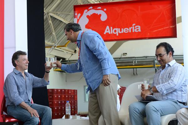 Juan Manuel Santos and Carlos Enrique Cavelier