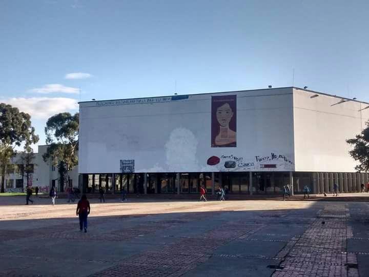 Imagen del Che borrada en la Universidad Nacional