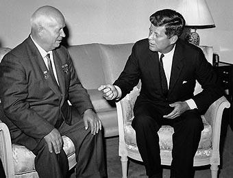 Jruschov y kennedy en Viena, 1961