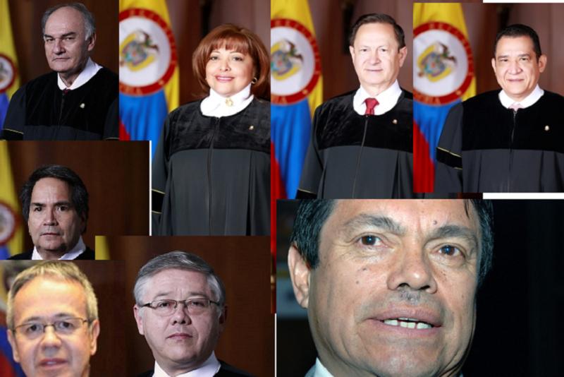 Los magistrados de la Sala Penal de la Corte Suprema de Justicia que respaldan la Justicia transicional de las FARC