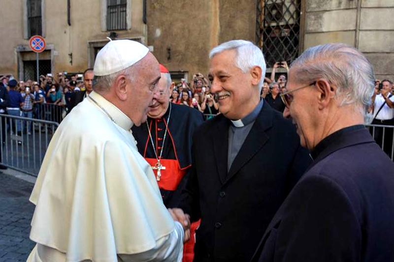 Papa Francisco y Arturo Sosa S.J., jesuita venezolano nombrado Superior General
