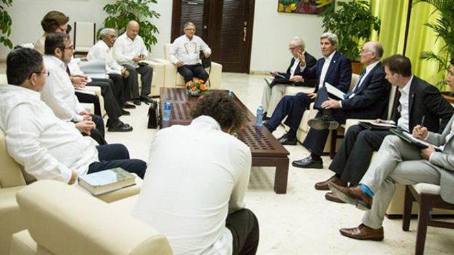 Encuentro entre Kerry y las FARC