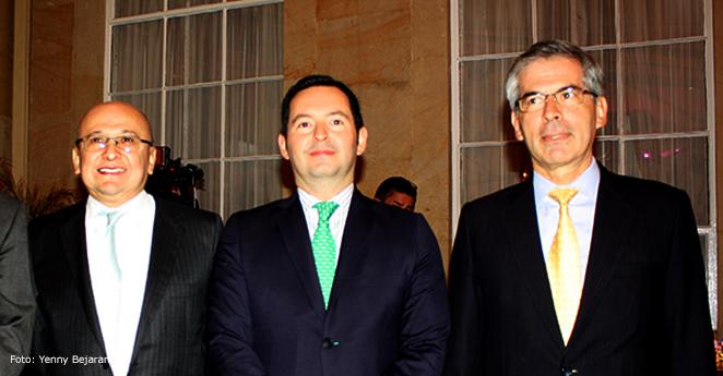 Eduardo Montealagre, Jorge Perdomo y Yesid Reyes (Foto KienyKe)