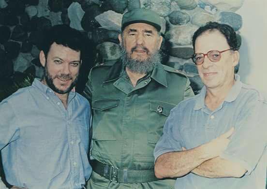 Juan Manuel Santos, Fidel Castro y Enrique Santos